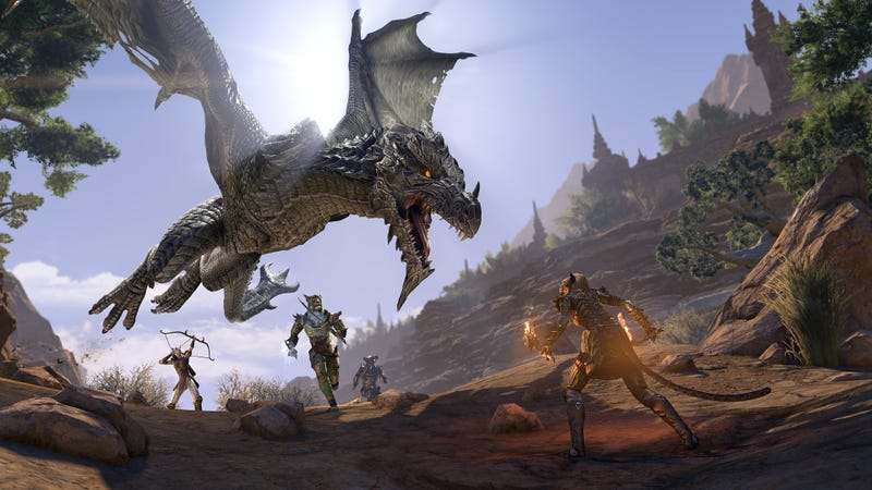 Illustration for article titled The Elder Scrolls Online: Elsweyr Adds A Shot Of Cat Charisma And A Lot Of Dragons
