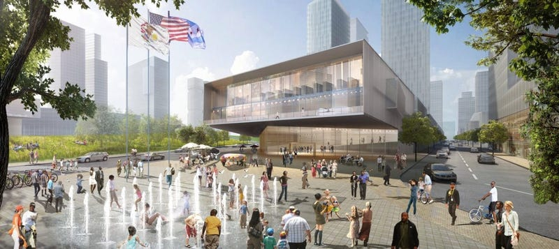 Illustration for article titled Here's One Early Proposal For Obama's Presidential Library In Chicago
