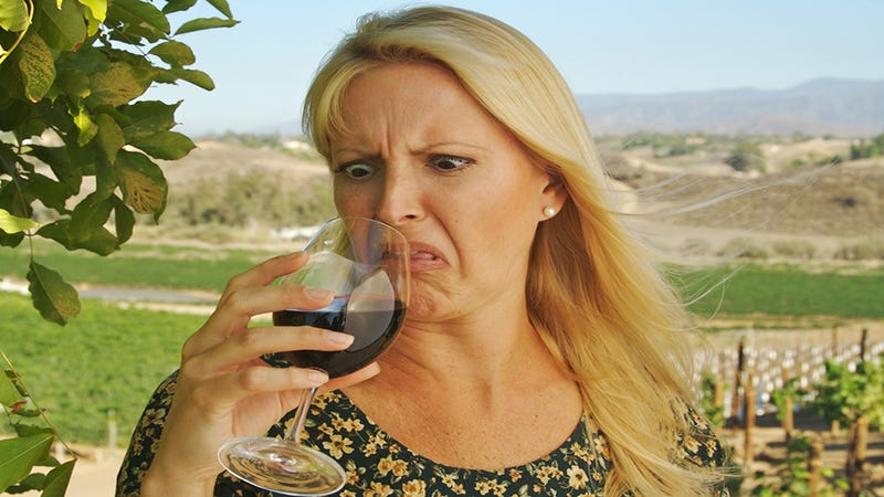 """Illustration for article titled The """"Smell"""" of Tainted Wine Is Actually Your Nose Going Numb"""