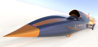Illustration for article titled Rocket Car Will Hit 1000mph in 40 Seconds, Empty Bowels in About 5