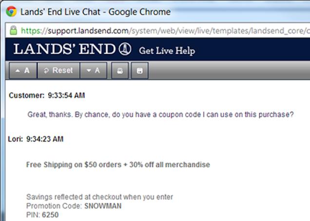 landsend coupon code