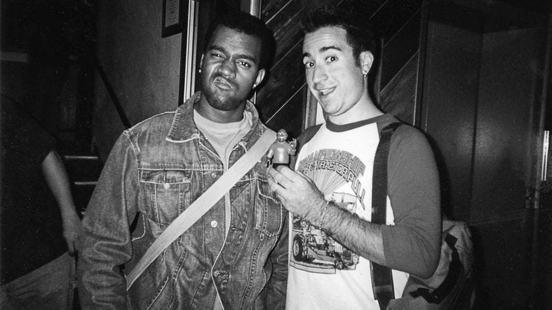 Kanye West and Jensen Karp in the mid-'00s. (Photo courtesy of Jensen Karp)