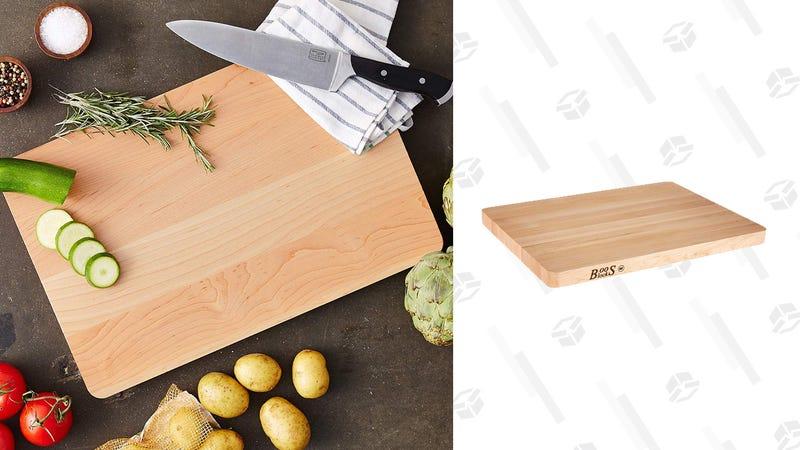 "John Boos Maple Wood Edge Grain Reversible Cutting Board 18""x 12"" x 1.25""   $28   Amazon"