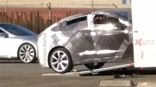 Illustration for article titled Is This Our First Glimpse Of The Tesla Model 3?