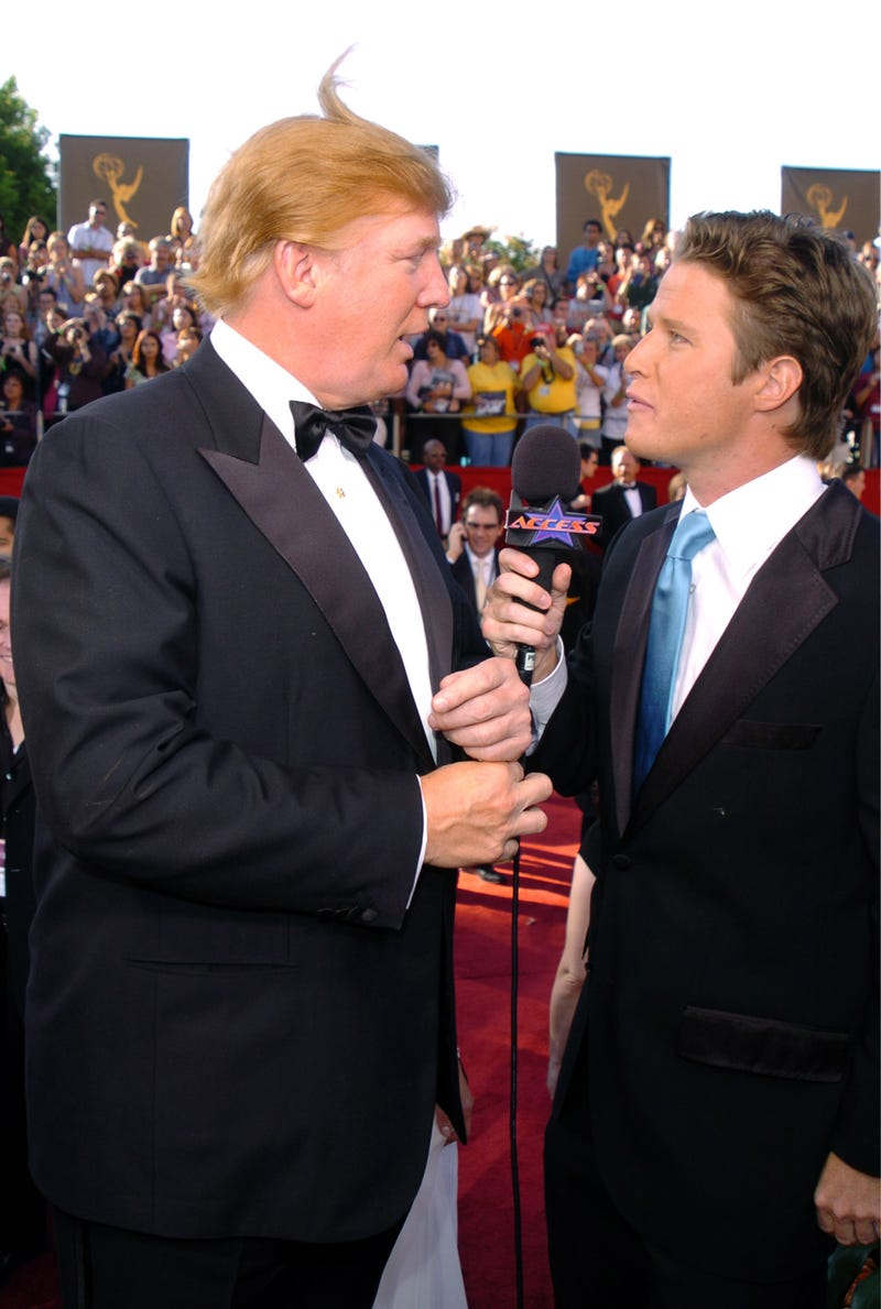 Donald Trump with Billy Bush during the 56th Annual Primetime Emmy Awards Red Carpet at the Shrine Auditorium in Los Angeles on Sept. 19, 2004George Pimentel/WireImage