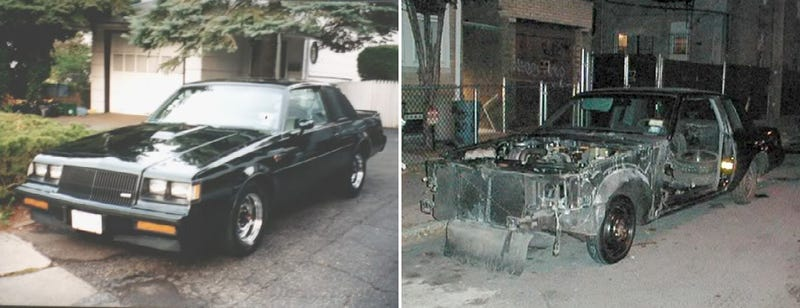 Reader Tommy861's Buick GN before and after it was stolen. Read his full story here.