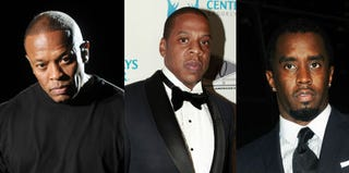 Dr. Dre (C. Flanigan/Getty Images); Jay-Z (Allison Joyce/Getty Images); Sean Combs (Desiree Navarro/Getty Images)