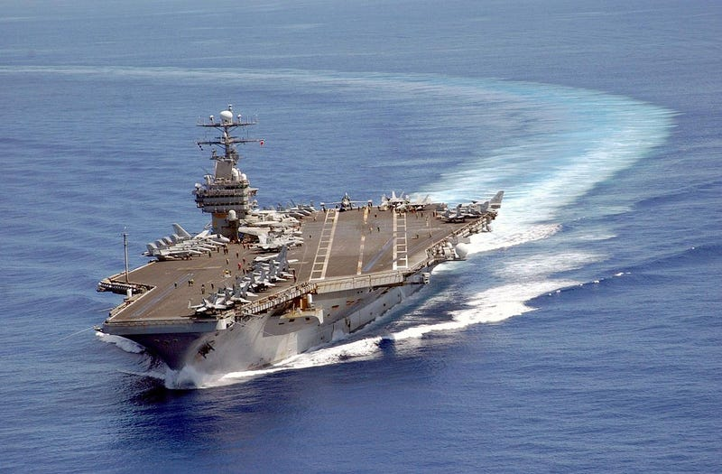 Illustration for article titled Breaking News: After Search, Whitehouse Learns Location of USS Carl Vinson