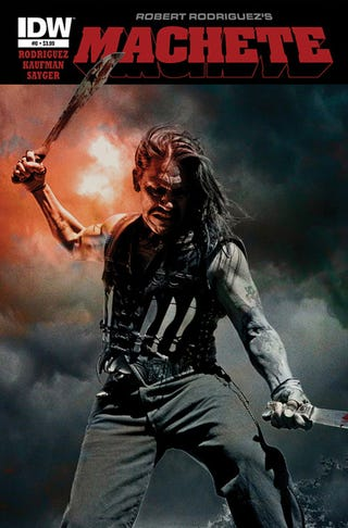 Illustration for article titled Robert Rodriguez's Machete is slicing its way to comics