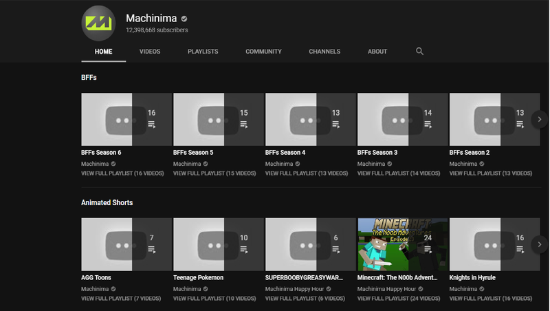 Entire Machinima YouTube Channel Set To Private