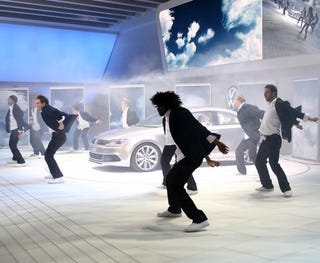 Illustration for article titled VW New Compact Coupe Debuts In Backstreet Boys Style
