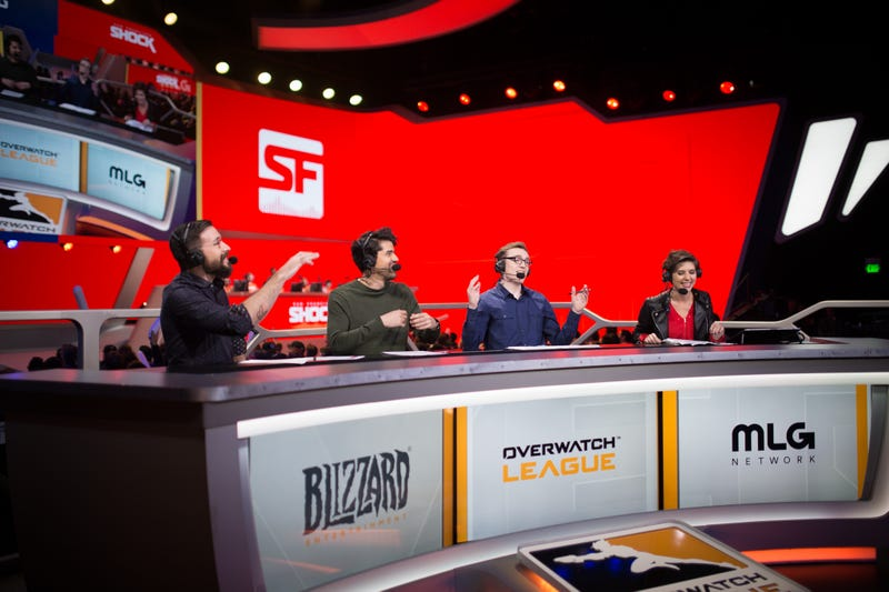 Illustration for article titled The Overwatch League Hosts Clearly Need Our Fashion Advice