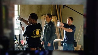 Illustration for article titled The Vampire Diaries Set Pictures