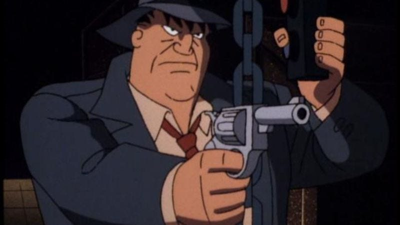 "Illustration for article titled Batman: The Animated Series: ""A Bullet For Bullock"""
