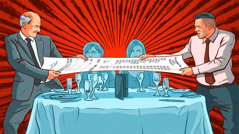Illustration for article titled From In-Laws to Bosses, How to Foot the Dinner Bill in Every Situation