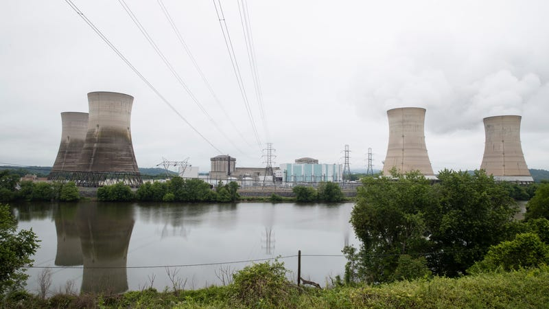 The Three Mile Island nuclear power plant in Middletown, Pennsylvania, in 2017.