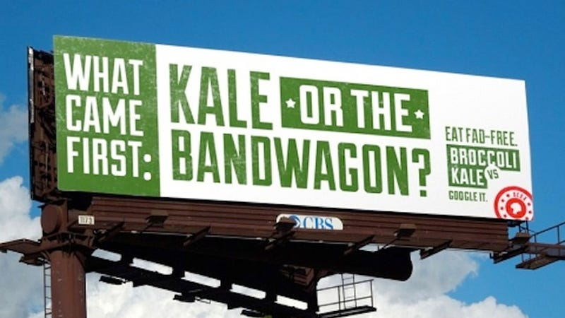 Illustration for article titled Kale vs. Broccoli: How to Get Americans to Eat Their Vegetables