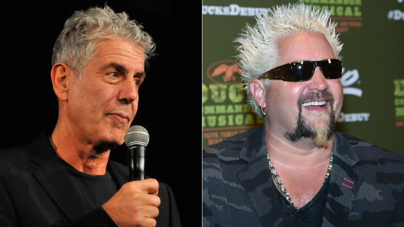Illustration for article titled Anthony Bourdain Asks 'How Does Guy Fieri De-Douche?'