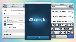 Illustration for article titled Greplin Searches Your Personal Cloud Data on Your iPhone