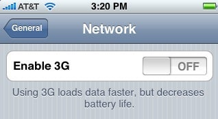 Illustration for article titled New iPhone Firmware Beta Has a 3G On/Off Switch: I Wish It Was Automatic