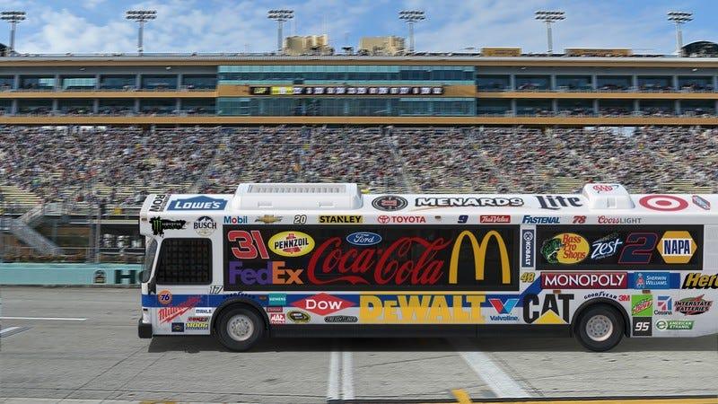 The NASCAR bus