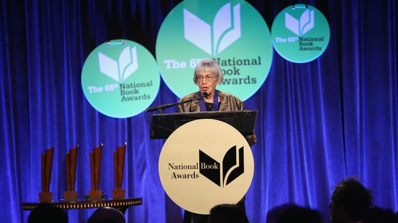 Ursula K. Le Guin at the 2014 National Book Awards. Image: Robin Marchant/Getty Images