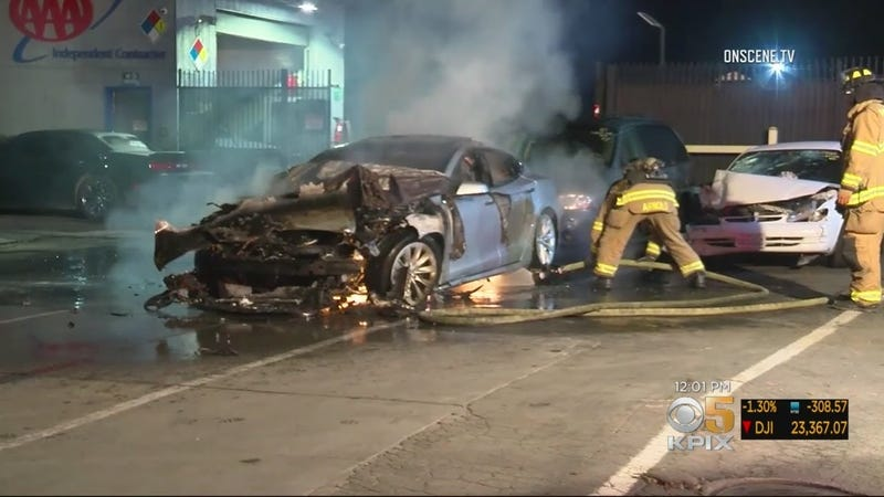 Illustration for article titled Tesla Model S Catches Fire Twice in One Day
