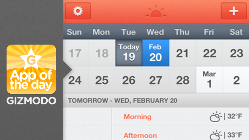 Illustration for article titled Sunrise: The Forces of Many Apps Unite for a Better Calendar