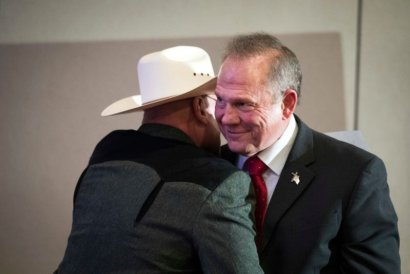 Roy Moore, right (Drew Angerer/Getty Images)