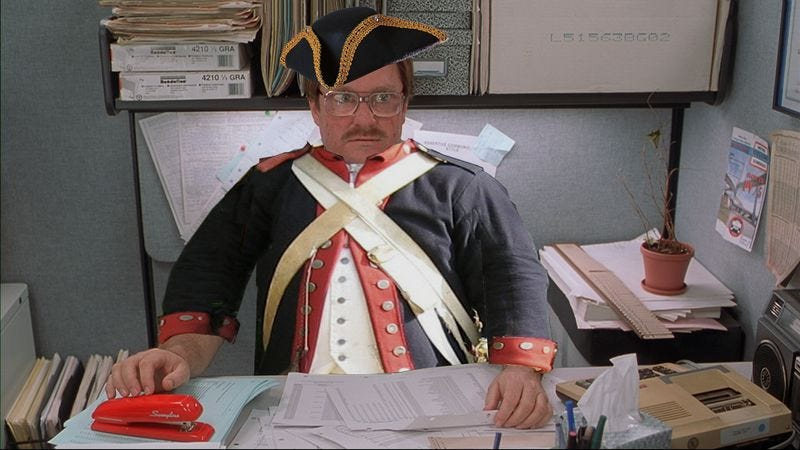 Illustration for article titled Stephen Root enlists in the Revolutionary War for AMC