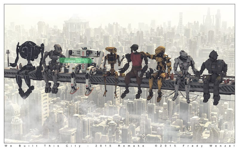 Illustration for article titled Even Robotic Construction Workers Take A Break For Lunch