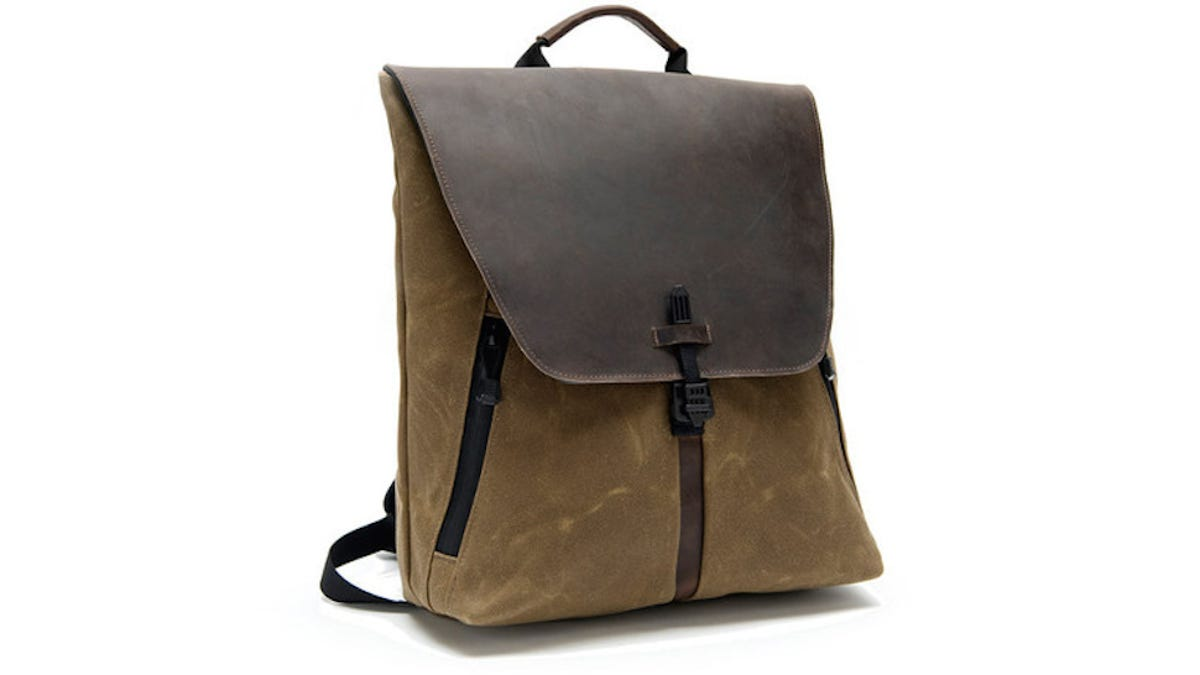495bbedf551f Leather Waxed Canvas Backpack Laptop Bag The ACE Backpack