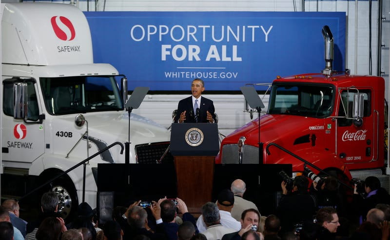 Illustration for article titled President Obama On The Future Of Commercial Trucks In America