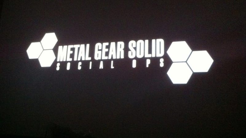 Illustration for article titled Brand New Metal Gear! It's..Um...a Social Game