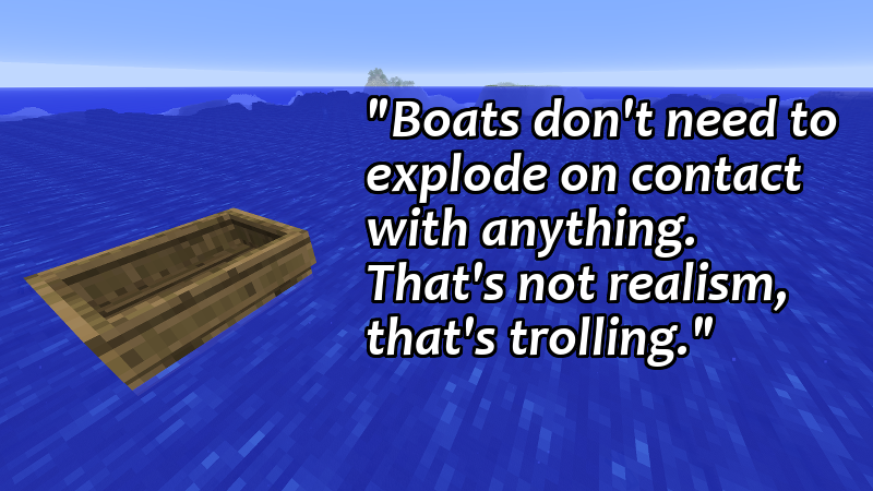 A Spectacular Minecraft Rant About Boats