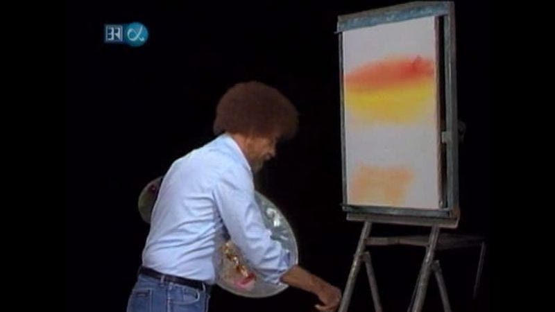 Illustration for article titled Watch Bob Ross unleash the beast with this brush-cleaning supercut
