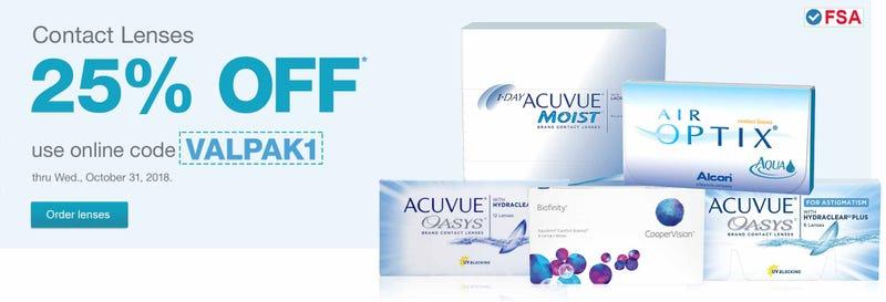 25% off Contacts | Walgreens | Promo code VALPAK1