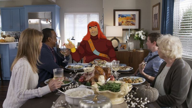 Illustration for article titled Son Of Zorn takes the typical Thanksgiving episode to hilarious, dark places