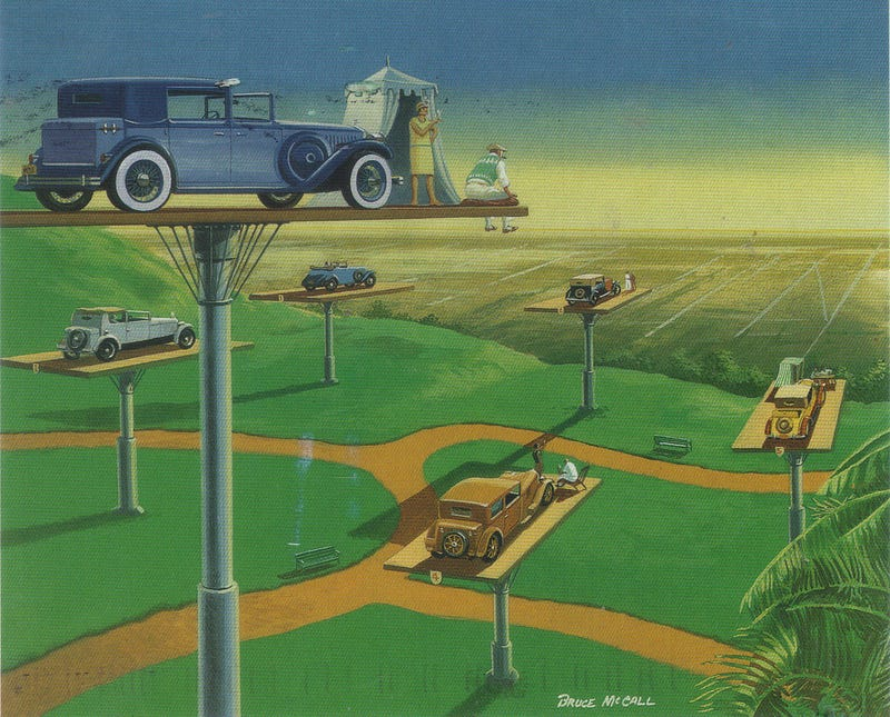 Illustration for article titled Bruce McCall's illustrations