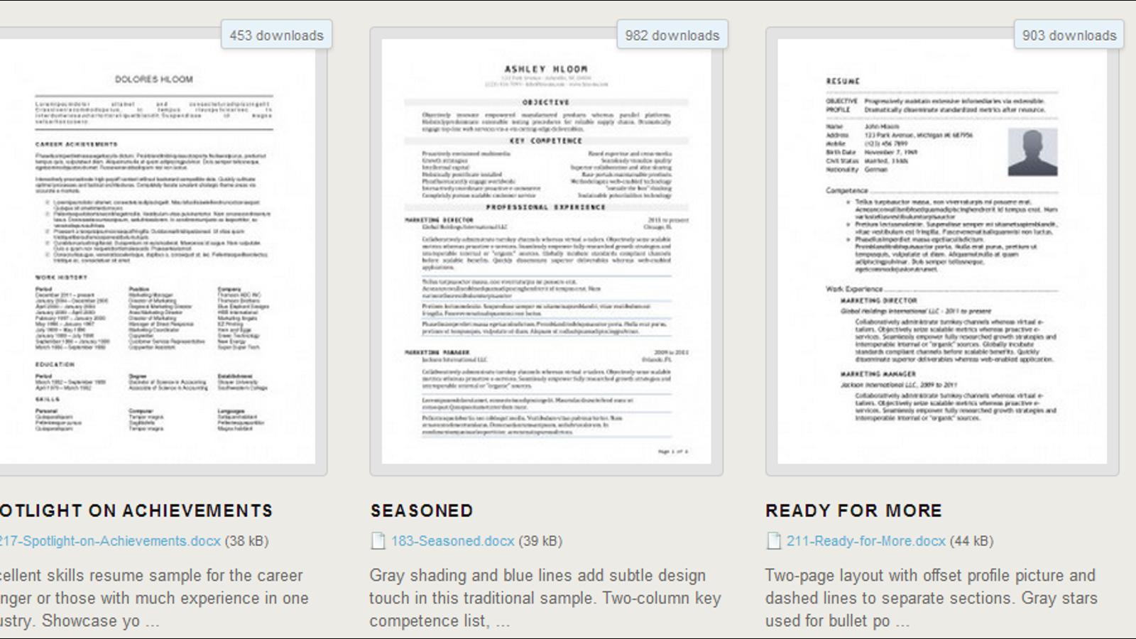 ¿Escribiendo tu currículum? Descarga gratis 275 plantillas en Word