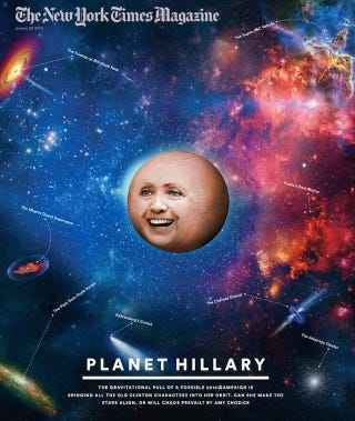 """Illustration for article titled The real reason you should be concerned about """"Planet Hillary"""""""