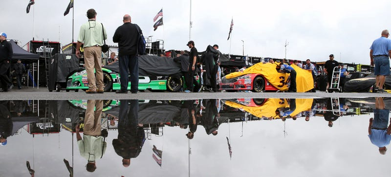 NASCAR soaked with sadness, yesterday. Photo Credit: AP