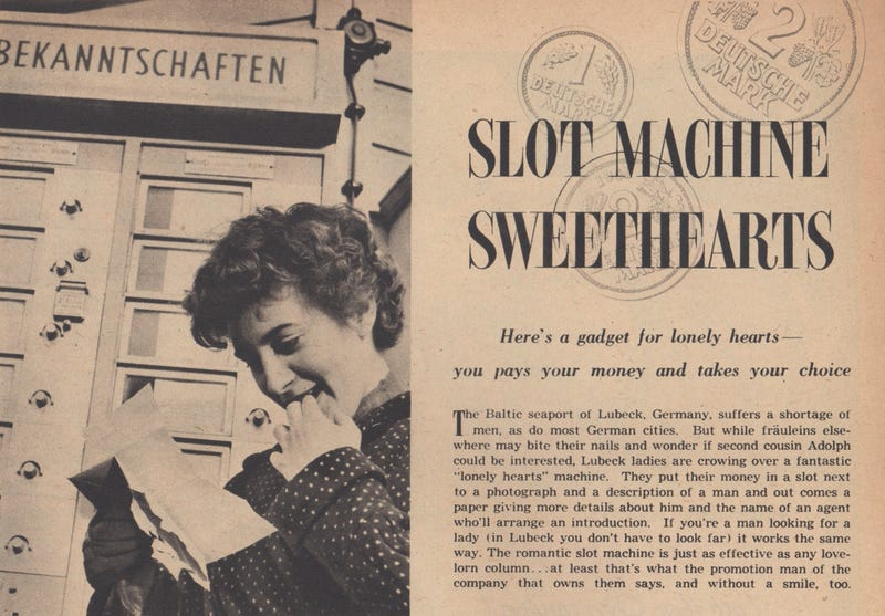 Illustration for article titled This Love Machine Was the OKCupid of 1955