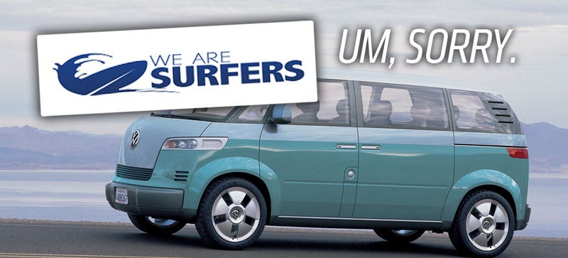 Illustration for article titled Why Is This Surfing Website Lying About A 2015 VW Microbus?
