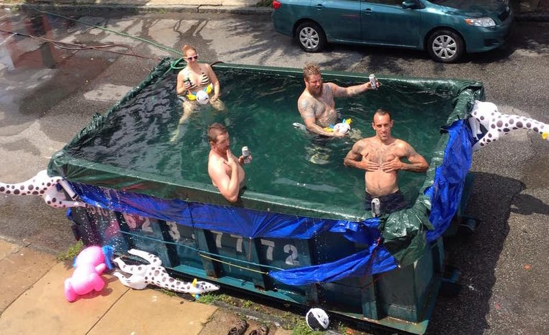 Illustration for article titled Weak-Ass Bureaucrats To Heroic Philly Citizens: Stop Turning Dumpsters Into Swimming Pools