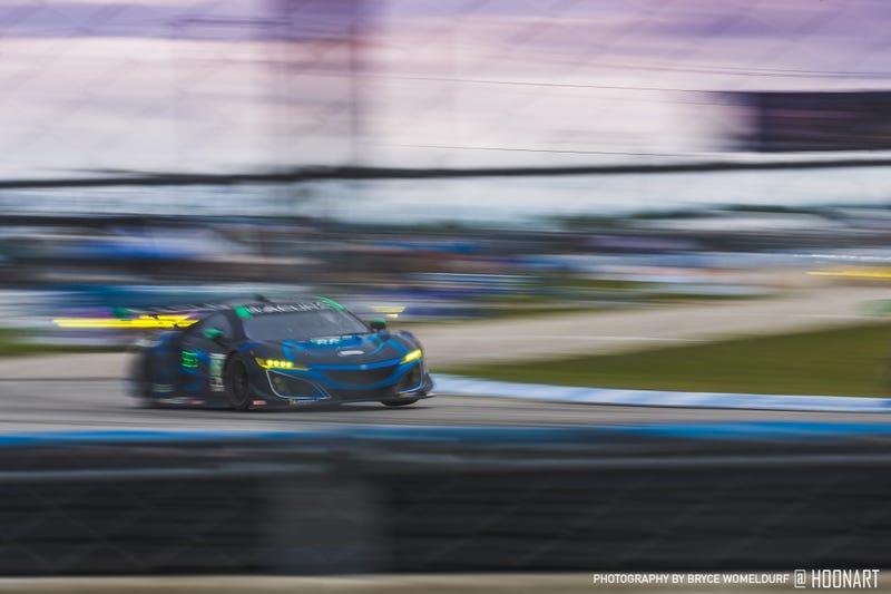 Meyer Shank Racing hits the 3 wheel motion at Super Sebring