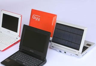 Illustration for article titled iUnika's Cheap, Lightweight and Solar Powered Netbooks