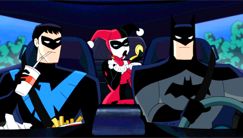 Illustration for article titled Batman and Harley Quinn Team Up to Take Down Poison Ivy in Animated Movie Featurette