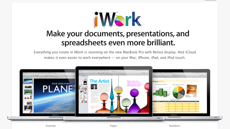 Illustration for article titled iWork, iPhoto and Safari Updated With New Mountain Lion-Powered Enhancements