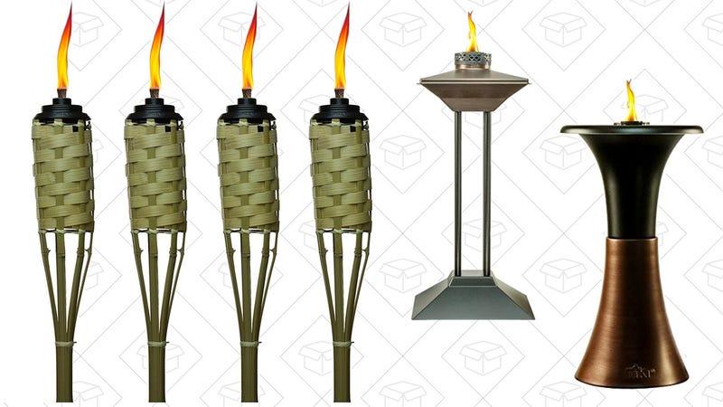 Tiki Torch Gold Box   Amazon